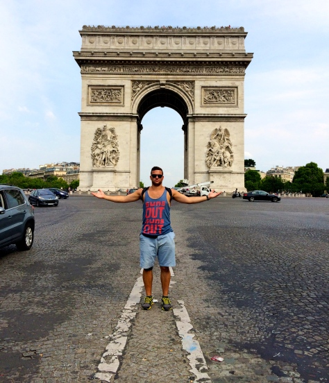 Arc de Triomphe.  The underground access tunnel is to the left of this picture.