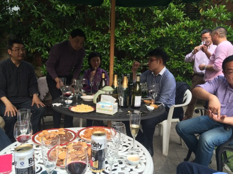Wine tasting with Chinese French wine makers.